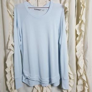 Athleta Tops - Athleta High Serenity Criss Cross Sweathshirt blue